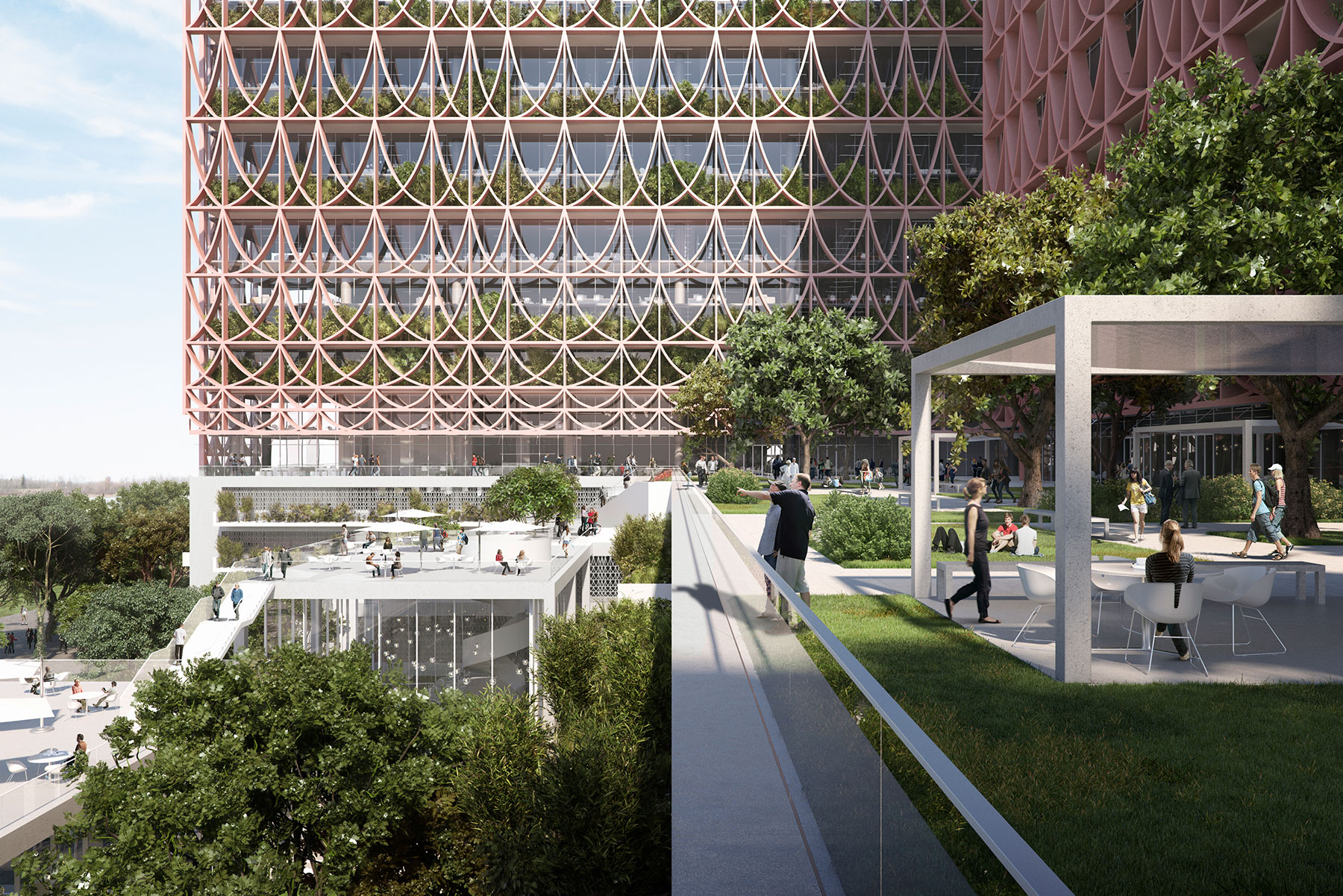 exterior architecture rendering images by Serie Architects