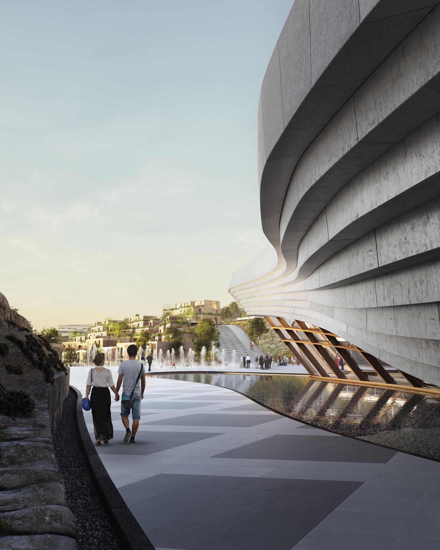 3D exterior theatre visualization images