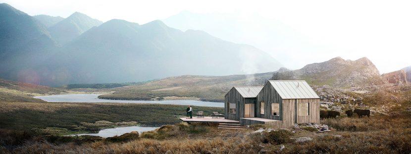 exterior architectural nature 3d render