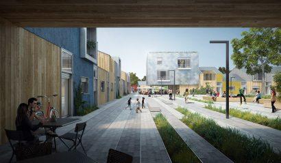 building architecture render 3d