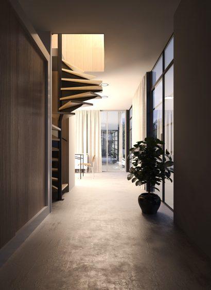 architecture interior render 3d