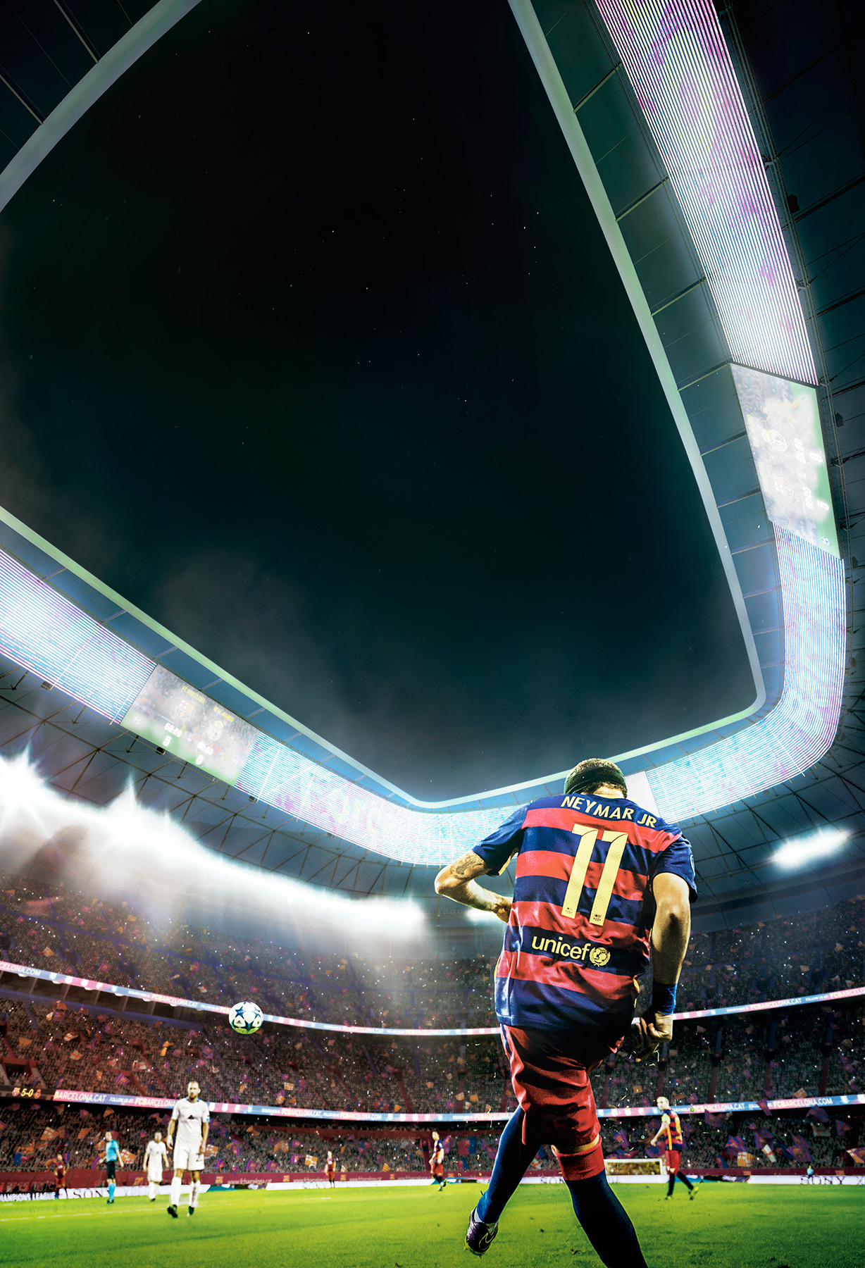 Render FCBarcelona Stadium with Neymar