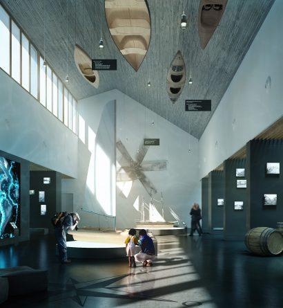 interior maritime museum render