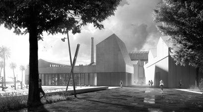 Architecture exterior render 3d