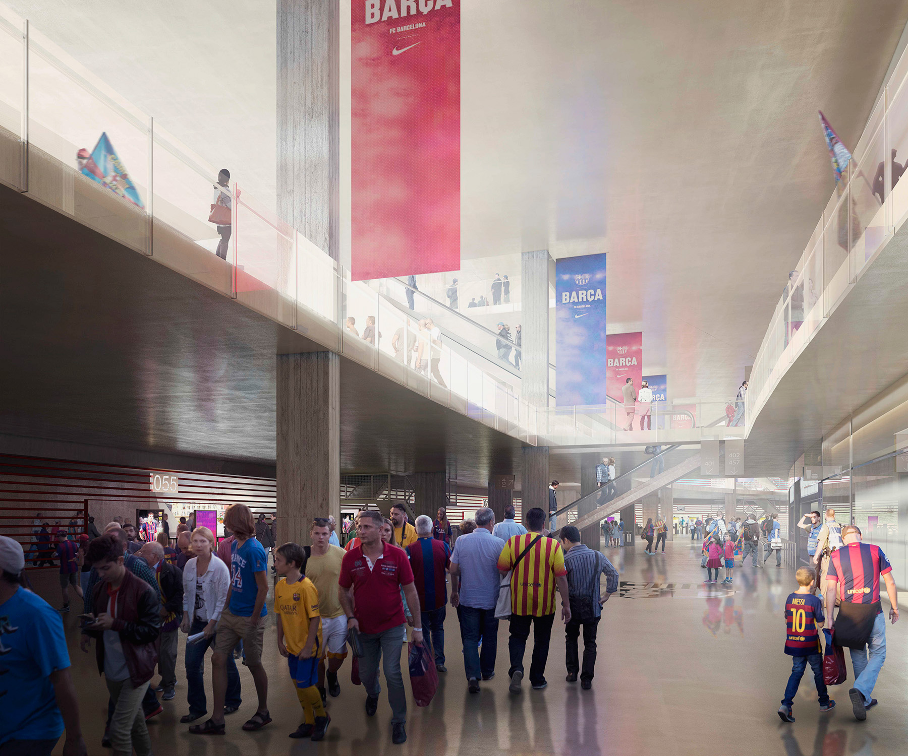 interior FCBarcelona stadium render