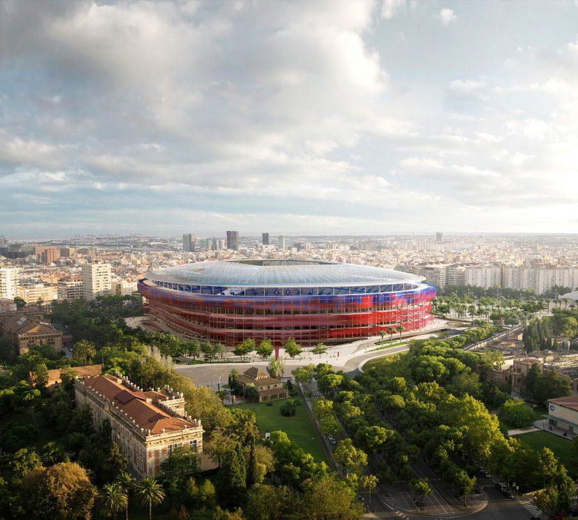 Stadium FCBarcelona Aerial render