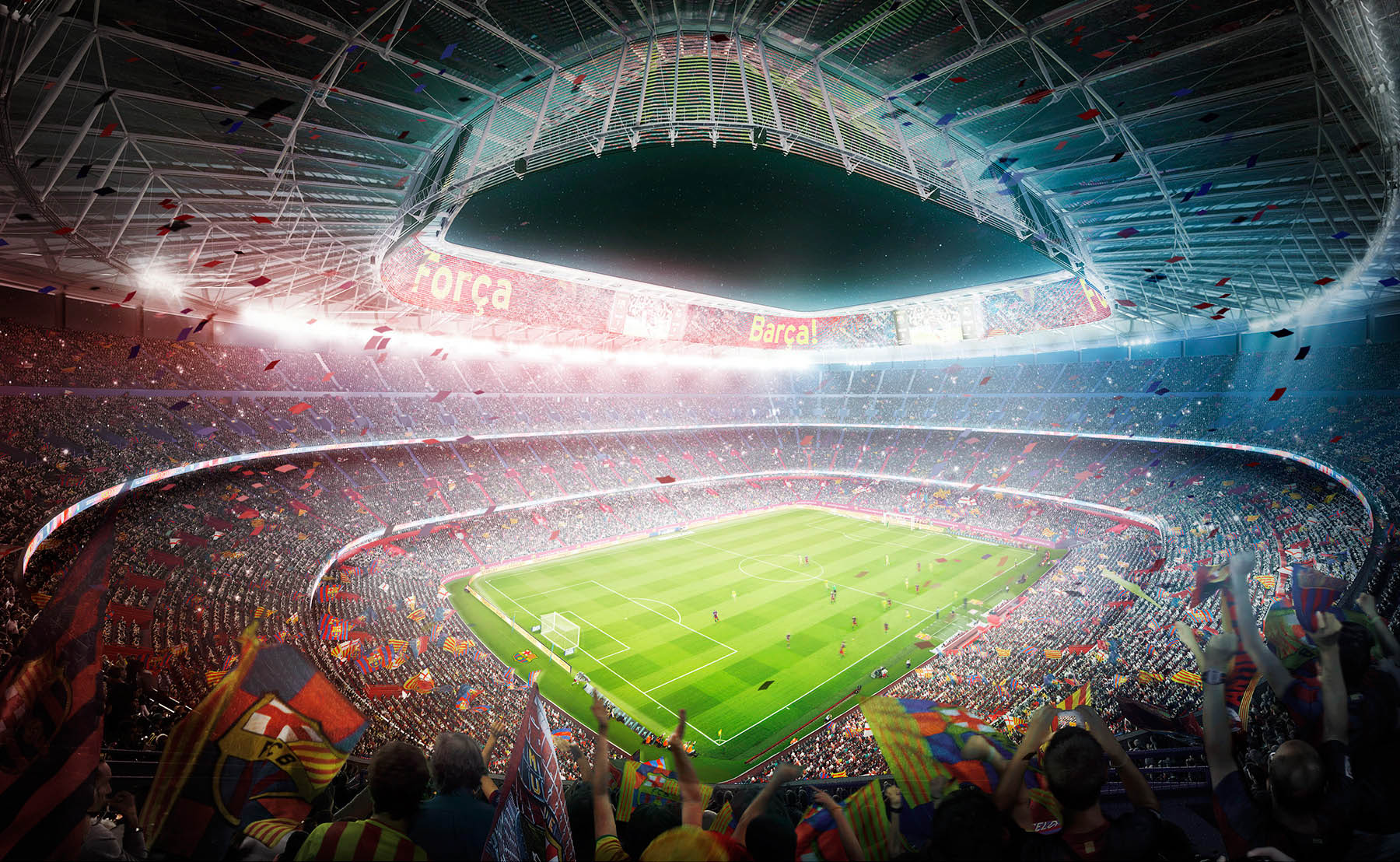 interior blowl FCBarcelona stadium render
