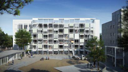 exterior architecture render 3d