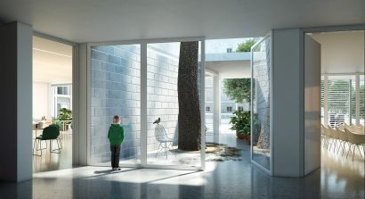architecture interior render 3d