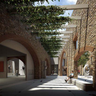 3D interior Museum render