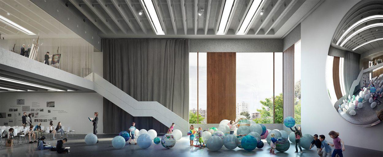 3d architecture interior render
