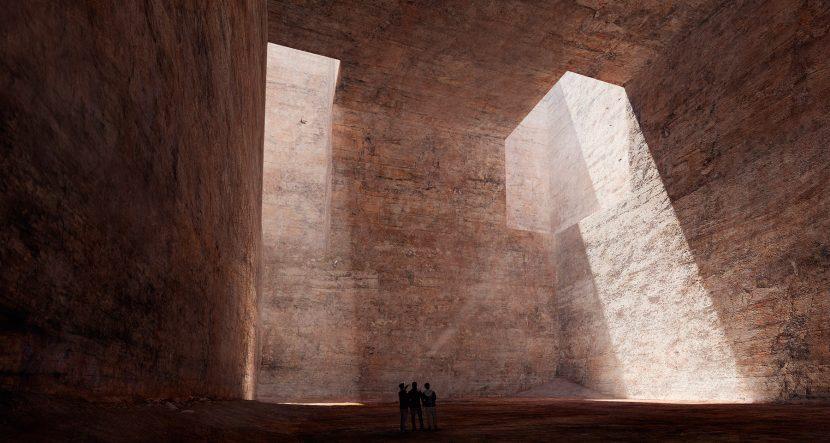 3d architecture monument render