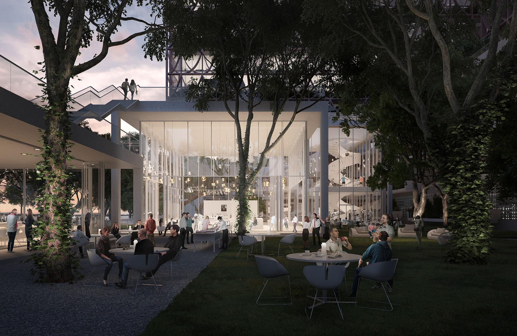 3D exterior architecture rendering images