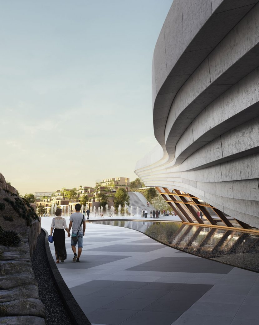 3D exterior theatre render