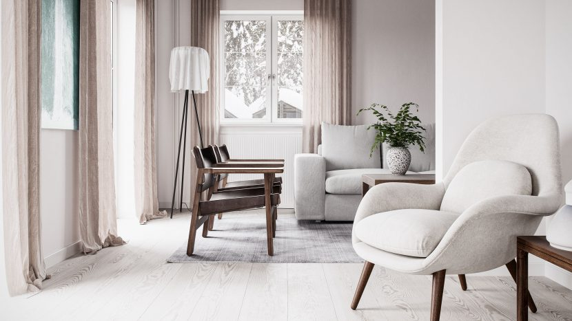 Photorealistic Rendering image of Fredericia´s Kaja Moller home